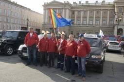 С Исаакиевской площади стартовал автопробег «Санкт-Петербург-Иркутск»